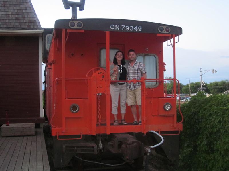 joel and marylou on train