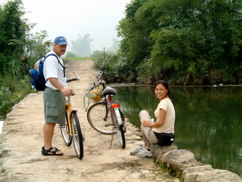 dave biking in yangshou