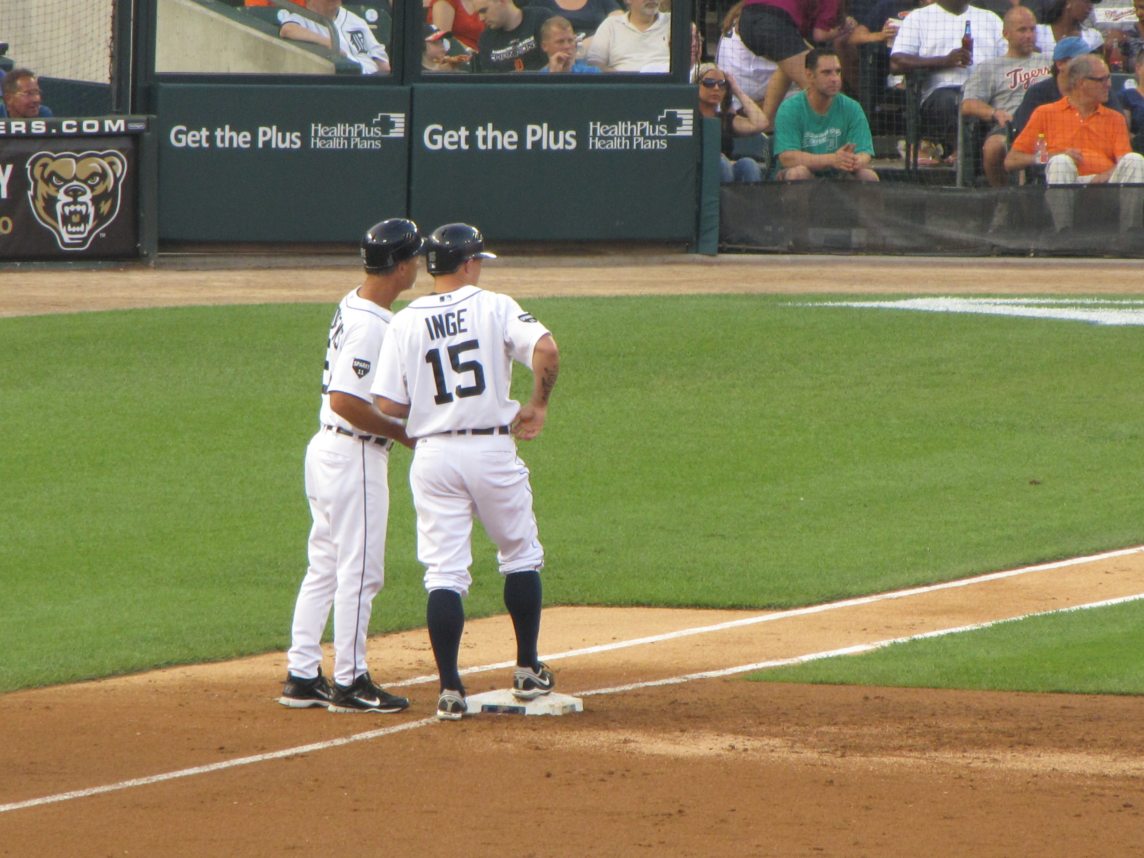 my favorite play of the game was cabrera stealing second in the first inning the highlight inning was definitely the th when brandon inge number  led : american colonial homes brandon inge