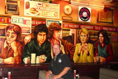 Johnny G's music legends mural