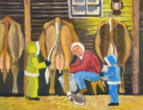 milking time by joanne gullachsen
