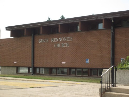 Grace Mennonite Church in Steinbach Manitoba photographed in November 2011