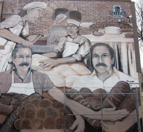 sons gunn's bakery mural