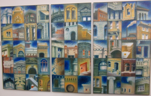 Winnipeg Exchange District painting by Caroline Dukes at the Millenium Library
