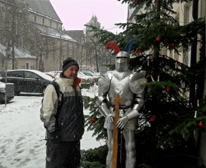 Dave on a snowy Christmas Day in Germany