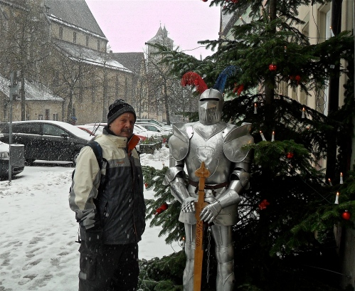 dave by christmas tree in Germany