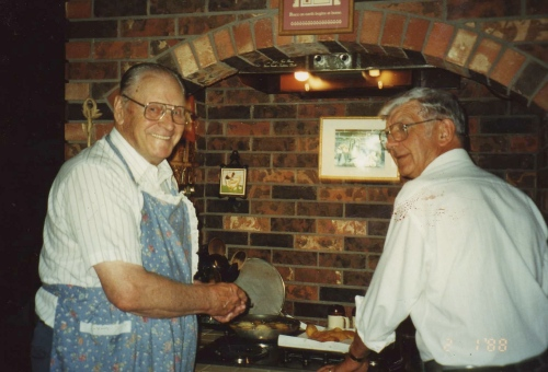 dad and dad cooking