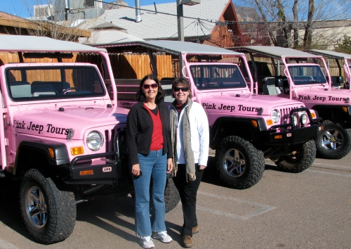 marylou and kaaren pink jeep tour