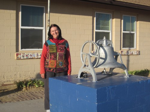 The bell outside the school we taught at on the Hopi Indian Reservation in Arizona.