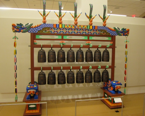 Mongolian bells in the Music Museum in Phoenix Arizona
