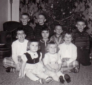 cousins at Christmas