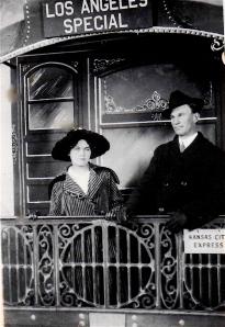 My grandparents leaving on their honeymoon