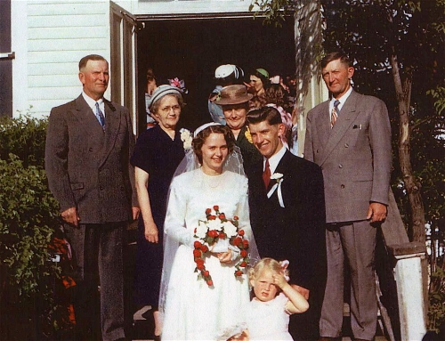 My Schmidt grandparents are to the left of my parents at their wedding