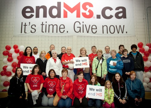 Photographed at the MS Walk -Our family team in memory of my cousin Connie