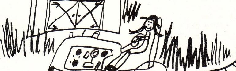 mother on farm child's drawing by bridget bernardi
