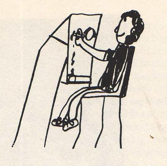 child's drawing on woman painting by bridget bernardi