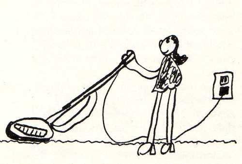 mother vacuuming by bridget bernardi age 7