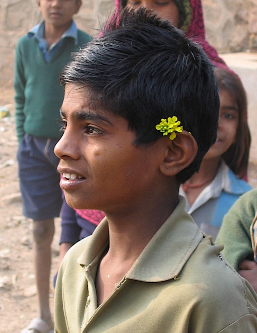 beggar near ranthambore national park