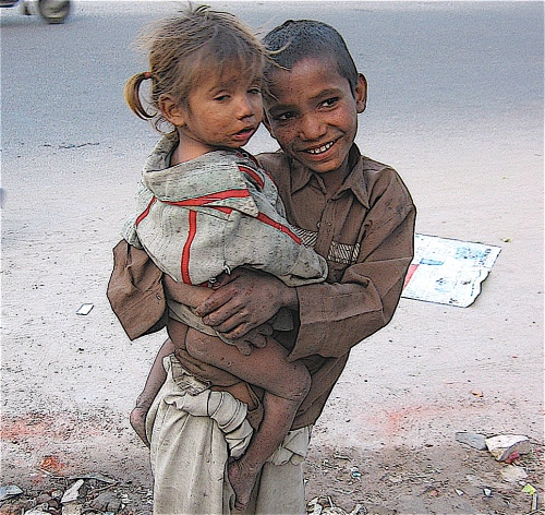 children begging in dehli india