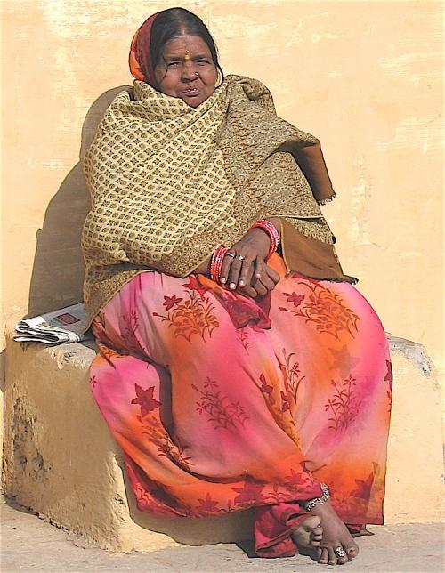 woman in sari in india