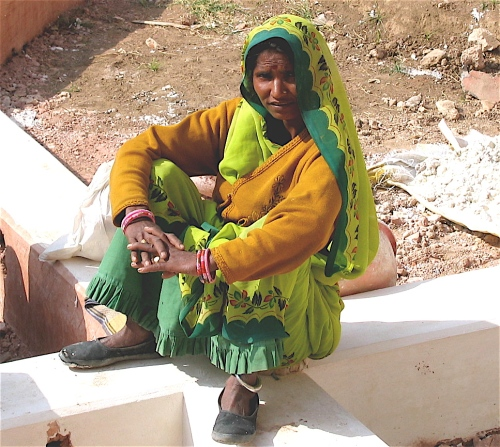 street woman in jaipur
