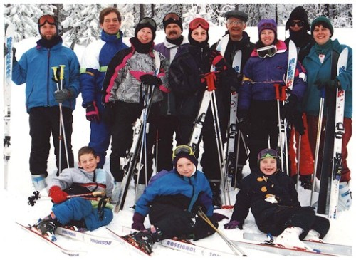 family ski trip to banff