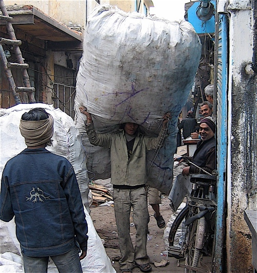 recycling workers dehli india