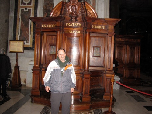 confessional booth at the Vatican