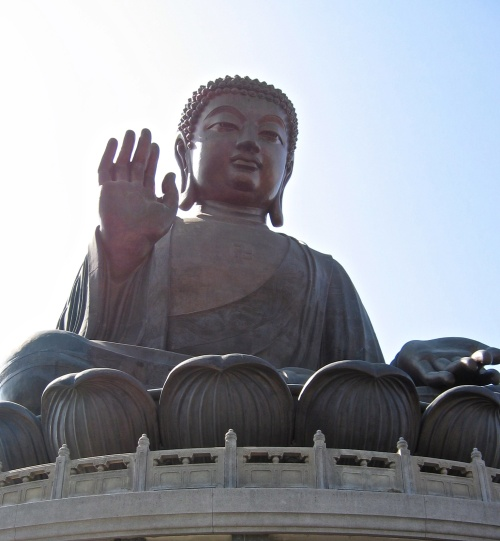 The Buddha in Hong Kong photographed in December 2005