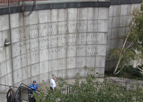 isaiah 2:4 at the united nations in new york city