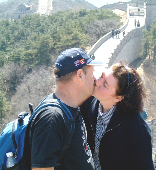 kiss on the great wall