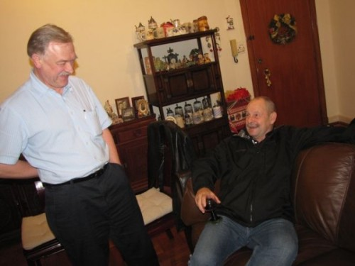dave and conrad at christmas party