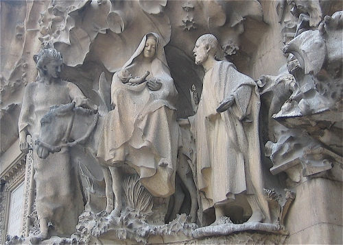 Flight into Egypt- Sagrada Familia- Barcelona- Photo by MaryLou Driedger