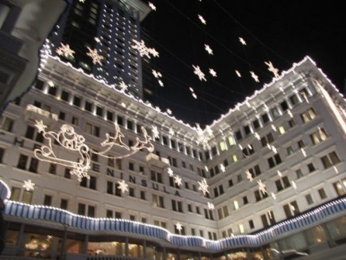 Peninsula Hotel at Christmas