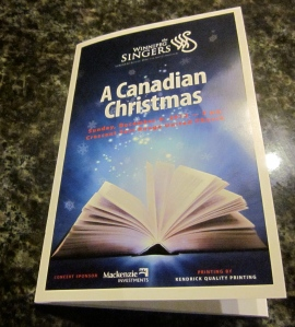 program winnipeg singers christmas concert
