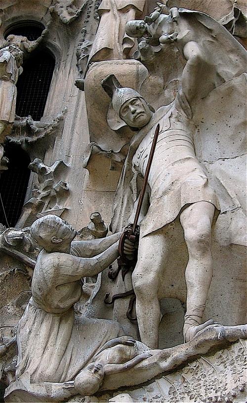 Massacre of the Innocents- Sagrada Familia- Barcelona- photo by MaryLou Driedger