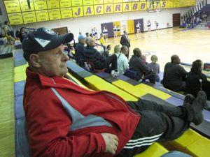 at a highschool basketball game