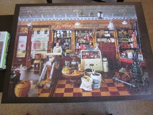finished jig saw puzzle