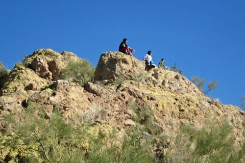 hikers at the top of silly mountain