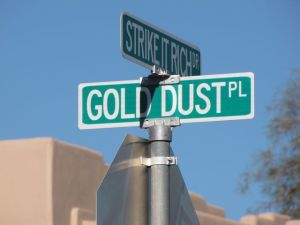 gold dust place street sign gold canyon arizona