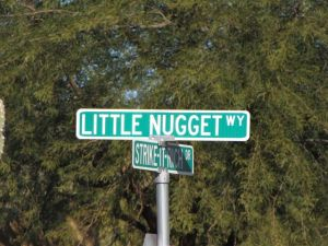 little nugget way street sign gold canyon arizona