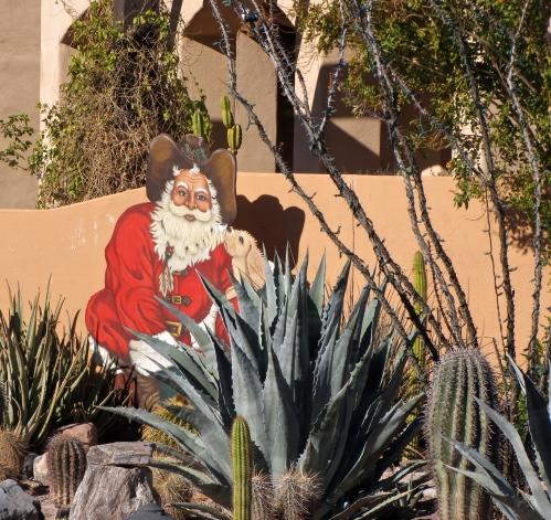 santa in a southwest landscape