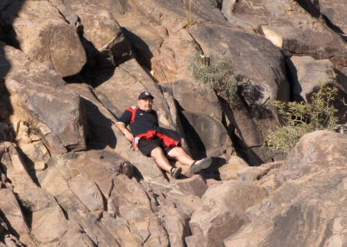 resting at the end of the hieroglyphic trail