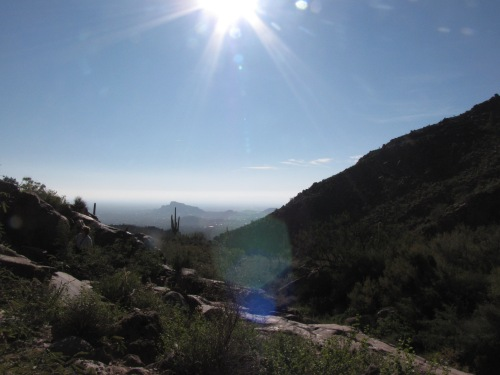 view from the hieroglyphic trail gold canyon