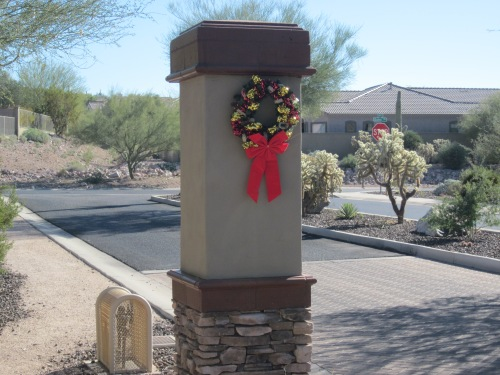 christmas wreath in phoenix