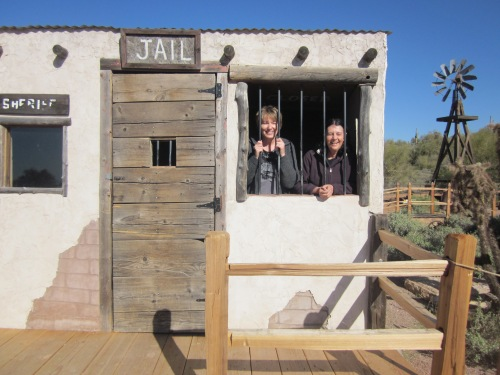two women in an old west jail