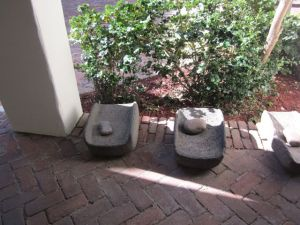 grinding stones at the heard museum