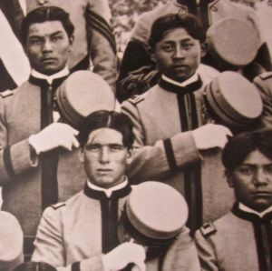 residential school boys in uniform heard museum