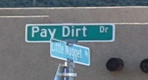pay dirt place street sign gold canyon arizona