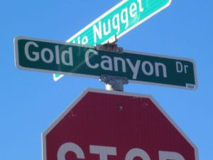 gold canyon drive sign gold canyon arizona
